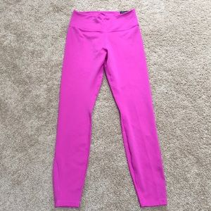 NWT! Nike pink small mid rise leggings with mesh